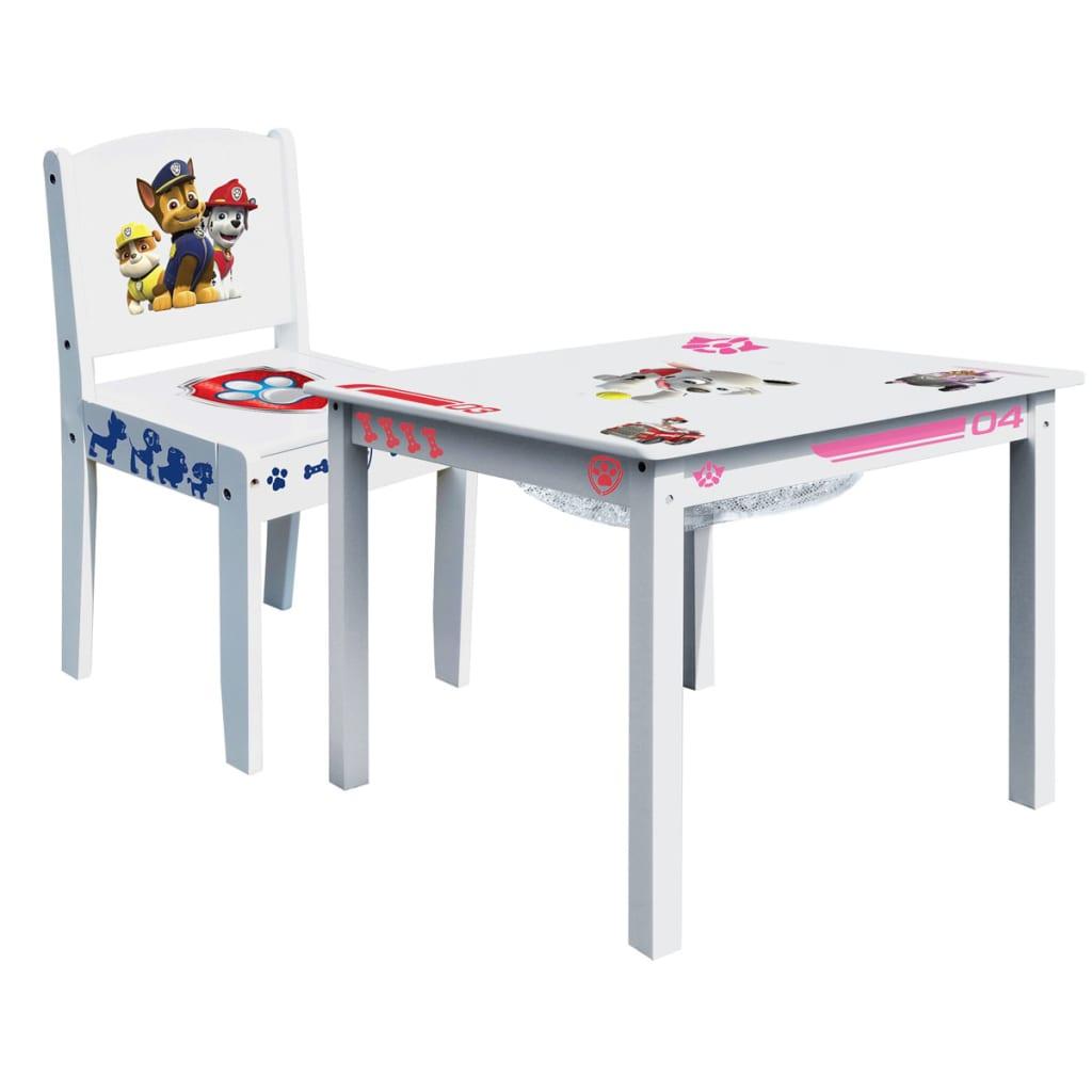 Afbeelding van Paw Patrol Tafel- en stoelenset hout wit 2-delig ROOM268051