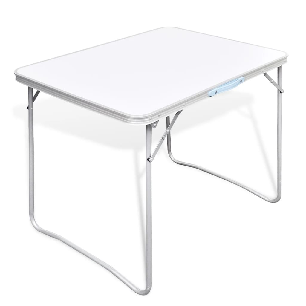 Foldable camping table with metal frame 80 - Table largeur 60 cm ...