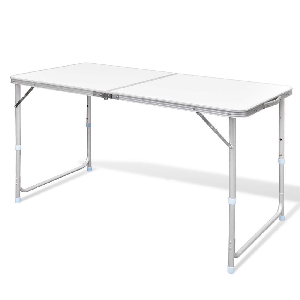 Table Pliante De Camping Hauteur Ajustable Avec Tabourets Table De Jardin Ebay
