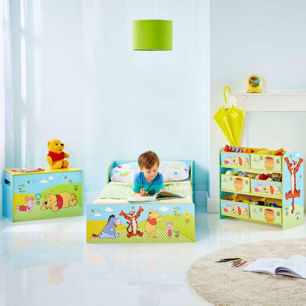 acheter disney lit b b winnie l 39 ourson 143x77x43 cm bleu worl104001 pas cher. Black Bedroom Furniture Sets. Home Design Ideas