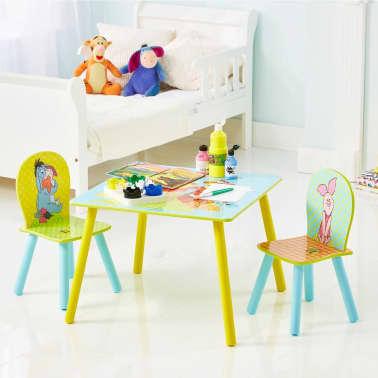 disney table et chaises 3 pi ces winnie l 39 ourson bois worl104004. Black Bedroom Furniture Sets. Home Design Ideas