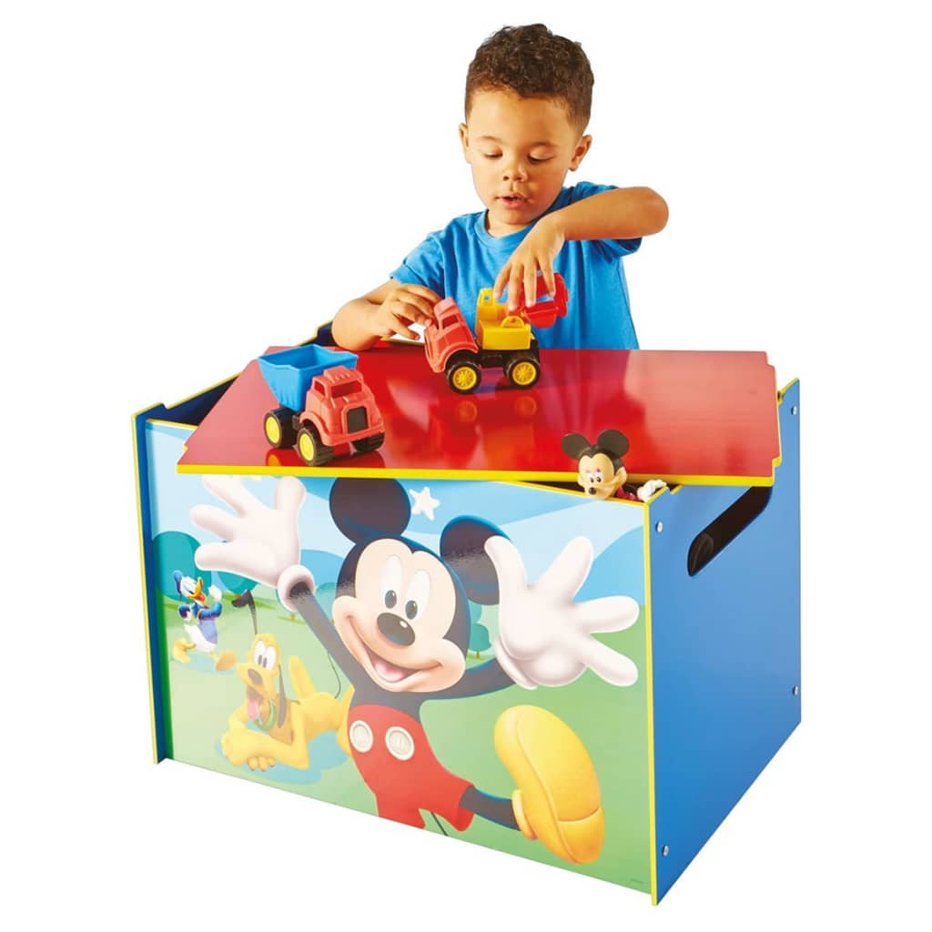 disney spielzeugkiste mickey mouse 60x40x40 cm blau holz. Black Bedroom Furniture Sets. Home Design Ideas