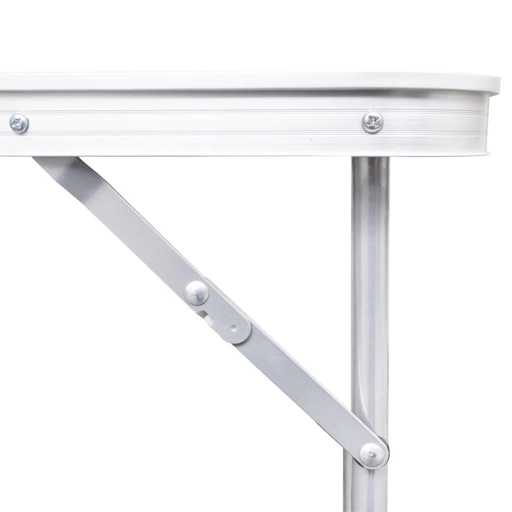Foldable camping table height adjustable for Table 180 x 85