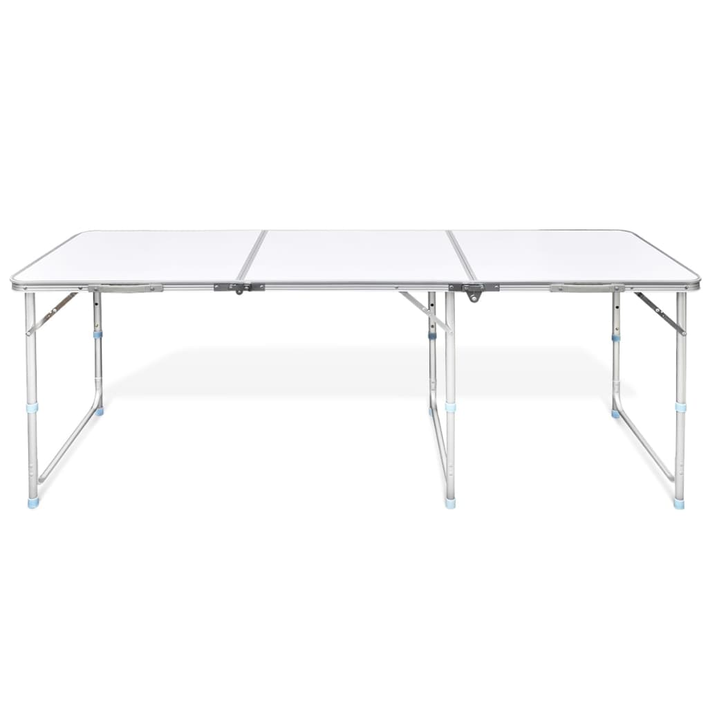 table pliante de camping en aluminium avec hauteur. Black Bedroom Furniture Sets. Home Design Ideas