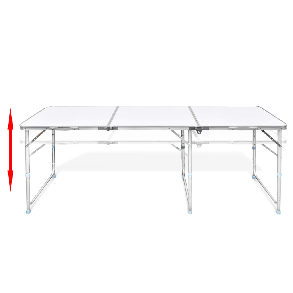 la boutique en ligne table pliante de camping en aluminium avec hauteur ajustable. Black Bedroom Furniture Sets. Home Design Ideas