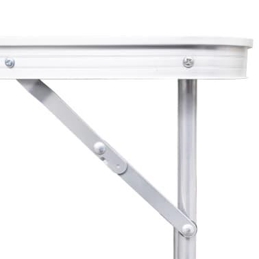 Campingtisch zusammenklappbar höhenverstellbar Aluminium 180 x 60 cm[3/6]