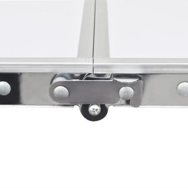 Campingtisch zusammenklappbar höhenverstellbar Aluminium 180 x 60 cm[2/6]