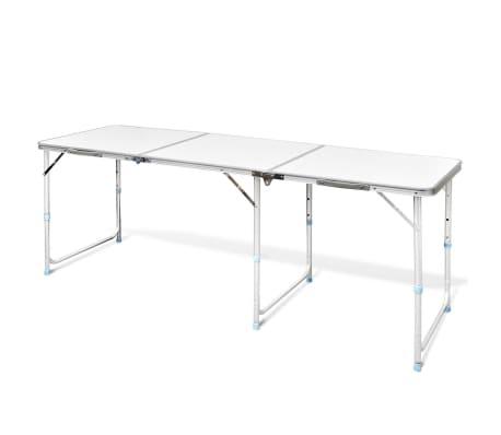 Campingtisch zusammenklappbar höhenverstellbar Aluminium 180 x 60 cm[1/6]