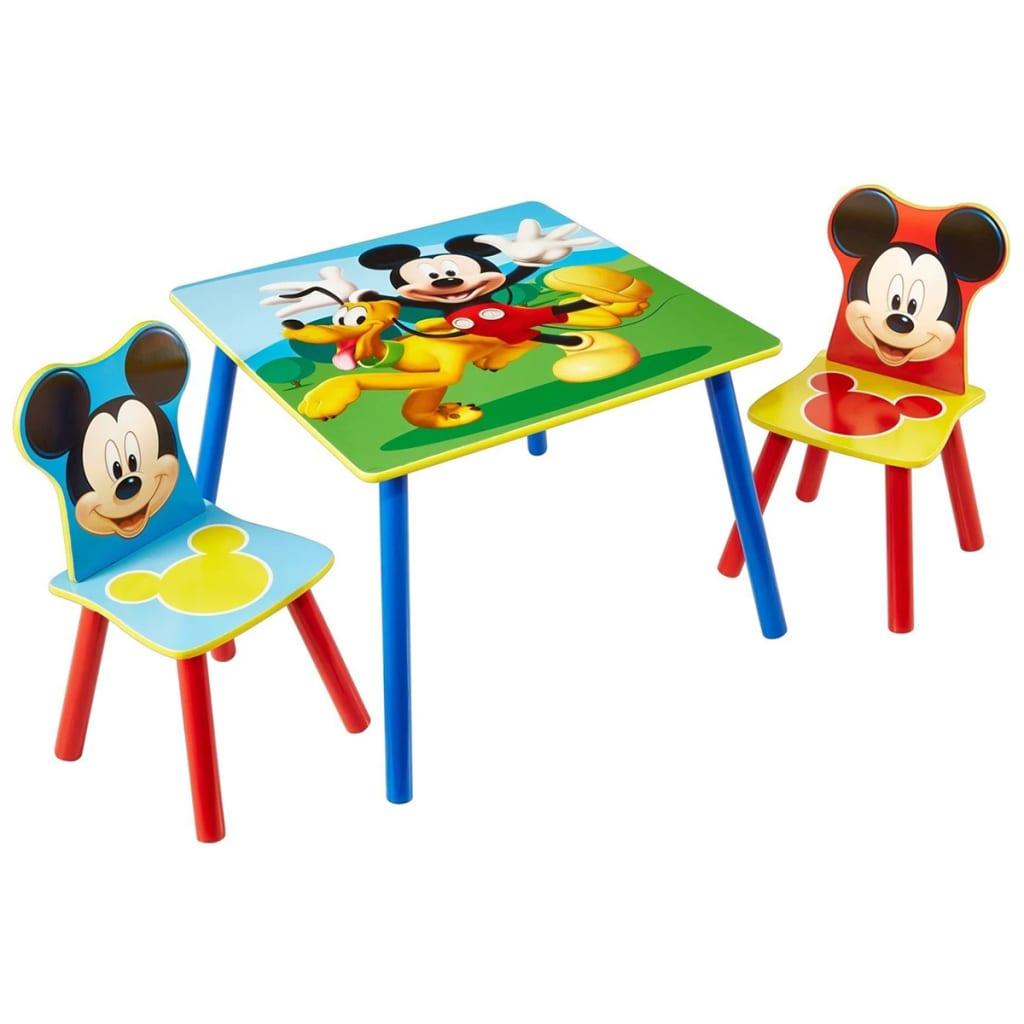 Disney 3 Tlg. Tisch  Und Stuhl Set Micky Maus Holz WORL119014