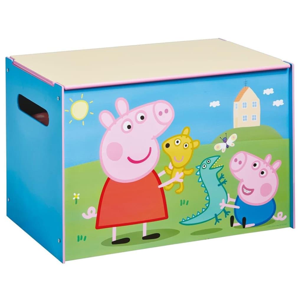 acheter peppa pig coffre jouets 60x40x40 cm bleu bois worl213011 pas cher. Black Bedroom Furniture Sets. Home Design Ideas