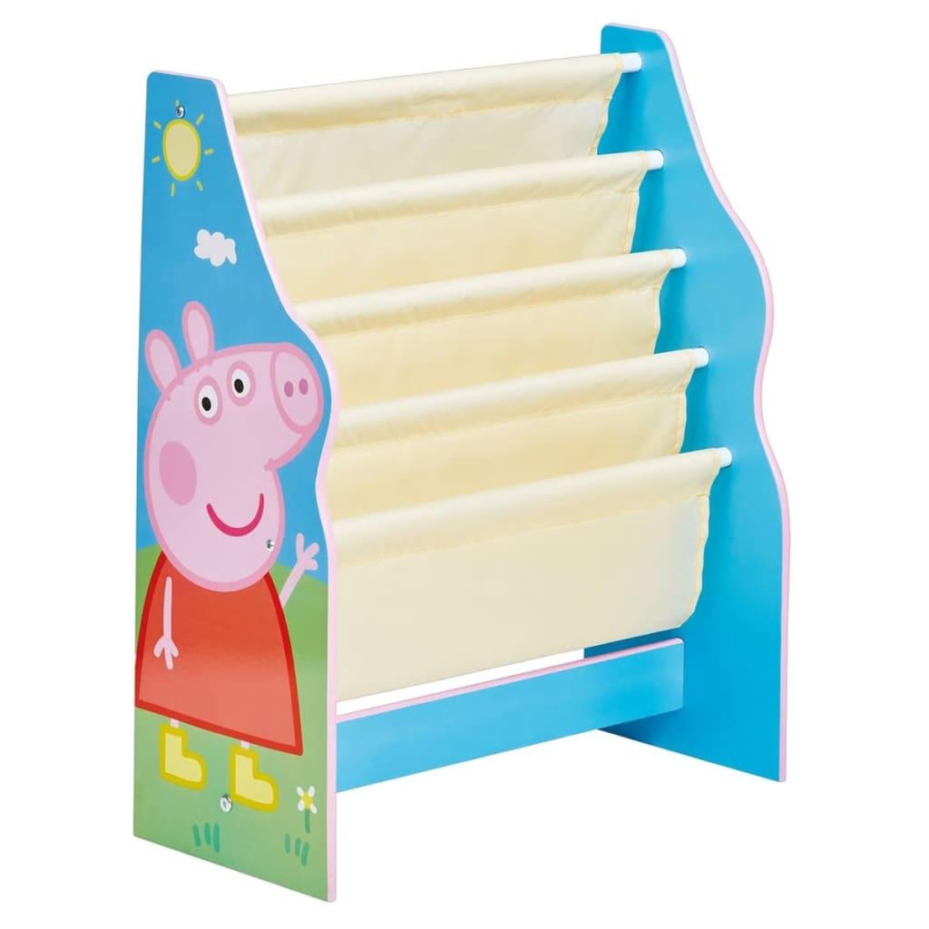 Peppa Pig Dziecięcy regał na książki, 51 x 23 60 cm, niebieski