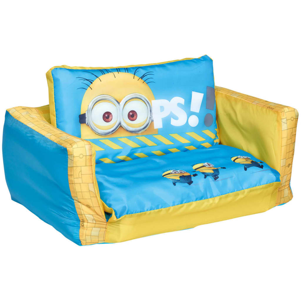Minions 2-w-1 Dmuchana rozkładana sofa, 105x68x26 cm, WORL220003