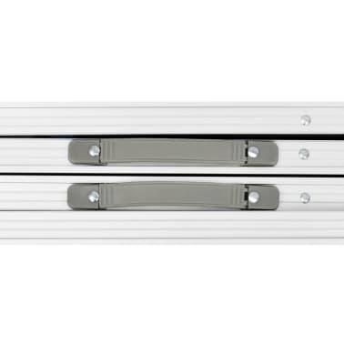 Campingtisch zusammenklappbar höhenverstellbar Aluminium 240 x 60 cm[4/7]