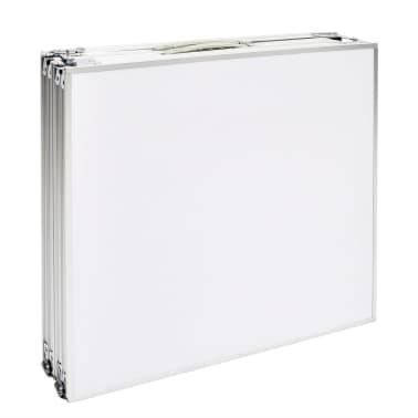 Campingtisch zusammenklappbar höhenverstellbar Aluminium 240 x 60 cm[5/7]