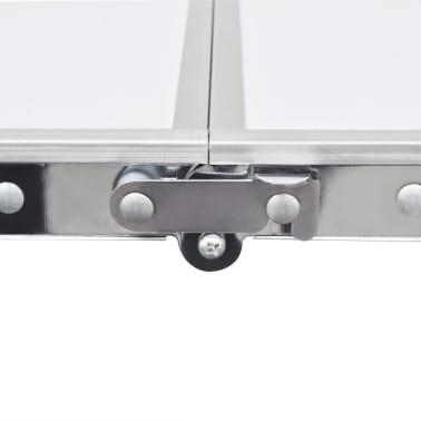 Campingtisch zusammenklappbar höhenverstellbar Aluminium 240 x 60 cm[2/7]