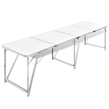 Campingtisch zusammenklappbar höhenverstellbar Aluminium 240 x 60 cm[1/7]
