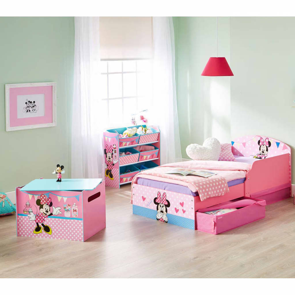 disney kinderbett minnie maus 140 x 70 cm rosa worl222012 g nstig kaufen. Black Bedroom Furniture Sets. Home Design Ideas