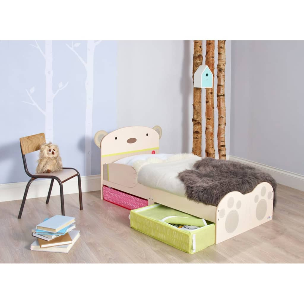 worlds apart kleinkinder bett mit kuschelb r aufdruck beige worl230011 g nstig kaufen. Black Bedroom Furniture Sets. Home Design Ideas