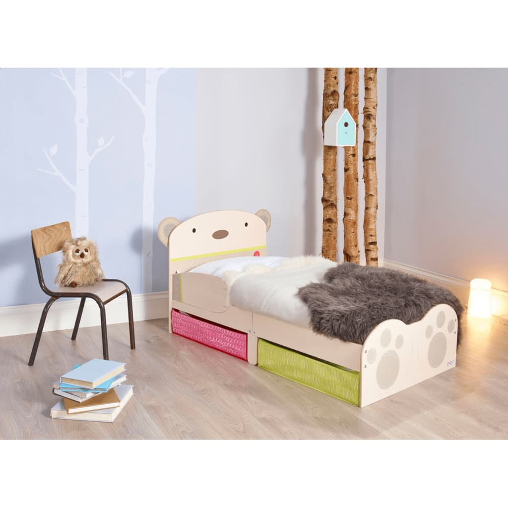 worlds apart kleinkinder bett mit kuschelb r aufdruck. Black Bedroom Furniture Sets. Home Design Ideas