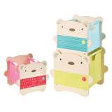 Worlds Apart Cajas de almacenaje 3 uds Bear Hug beige WORL230013