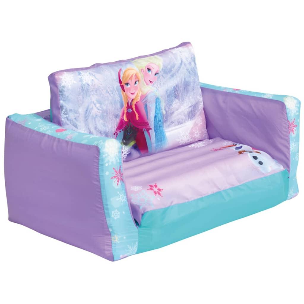 Disney 2-in-1 Pompowana sofa rozkładana, Kraina Lodu, 105x68x26 cm