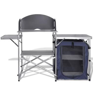 Camping-Kochstation aus Aluminium zusammenklappbar mit Windschutz[3/5]