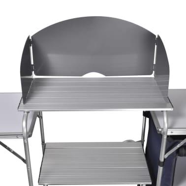 Camping-Kochstation aus Aluminium zusammenklappbar mit Windschutz[4/5]