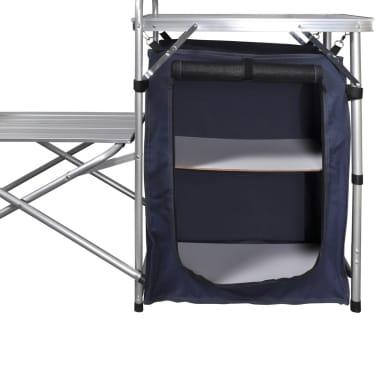 Camping-Kochstation aus Aluminium zusammenklappbar mit Windschutz[5/5]