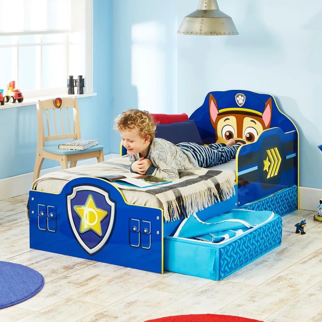 paw patrol letto per bambini con cassetti 145x68x77 cm blu worl268007. Black Bedroom Furniture Sets. Home Design Ideas