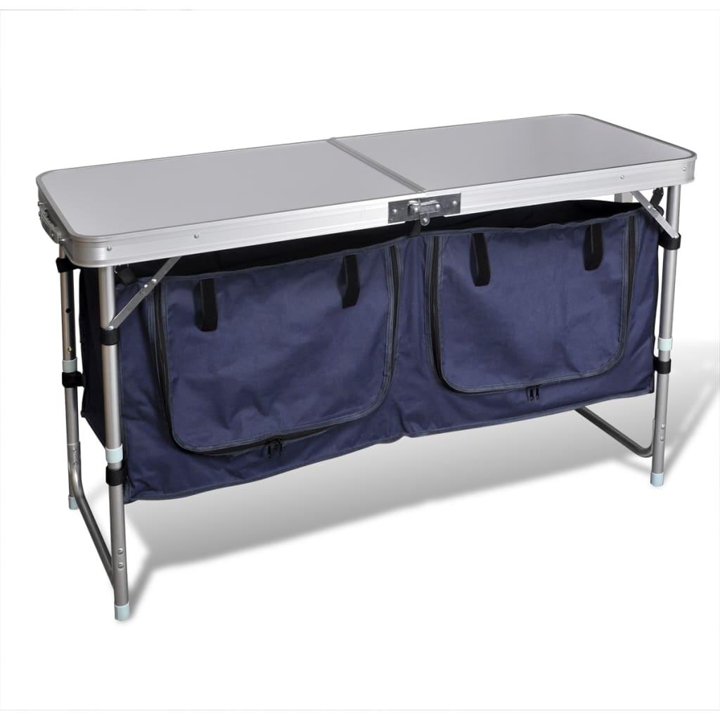 Hopfällbart campingskåp i Aluminium