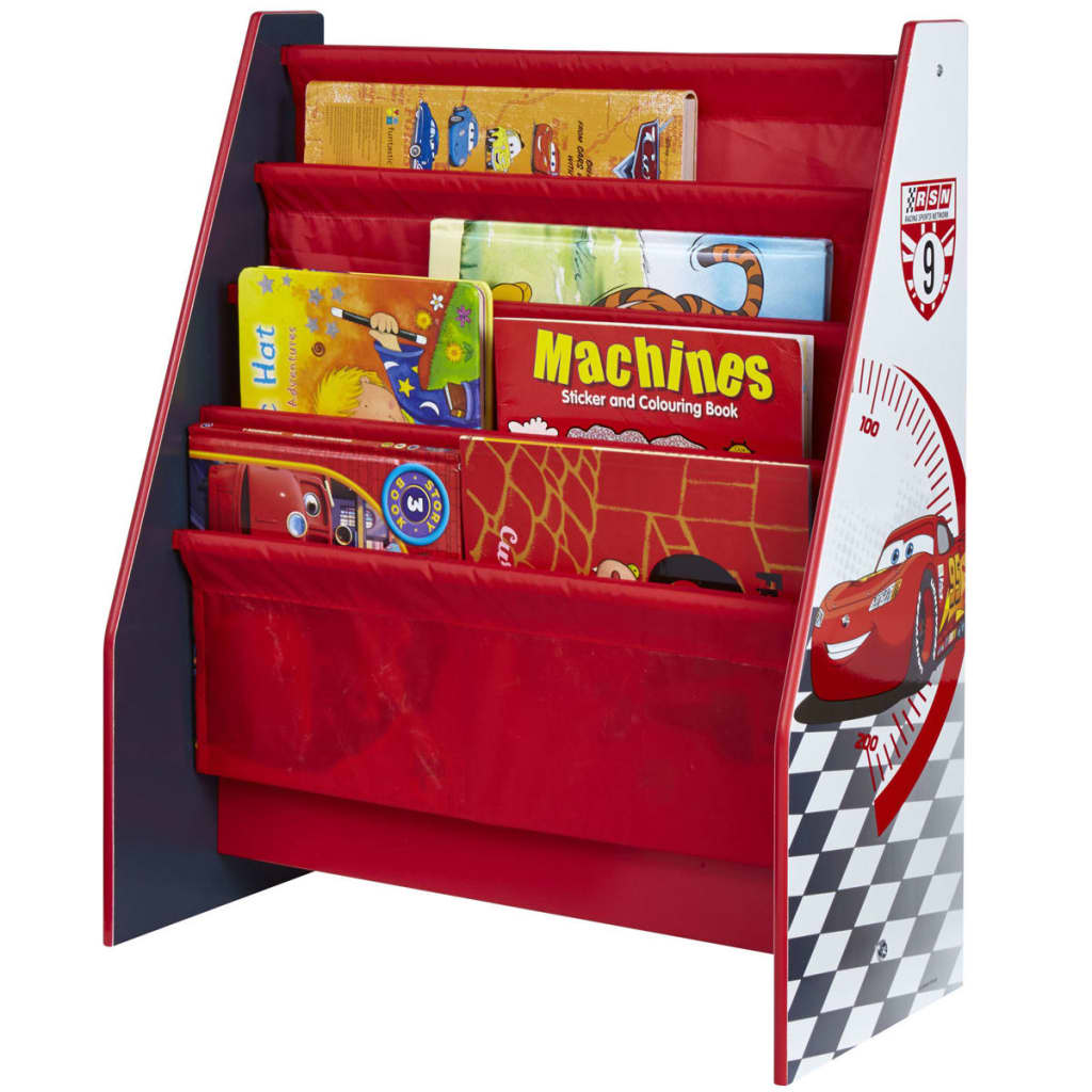 Afbeelding van Disney Kinderboekenkast Cars karmijnrood 51x23x60 cm WORL320005