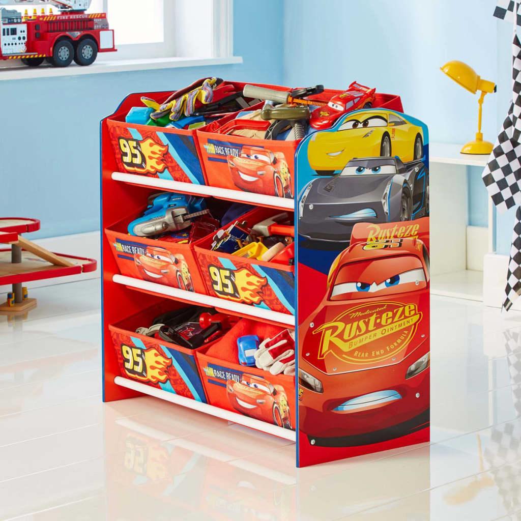 acheter disney meuble de rangement cars 60x30x64 cm rouge worl320019 pas cher. Black Bedroom Furniture Sets. Home Design Ideas