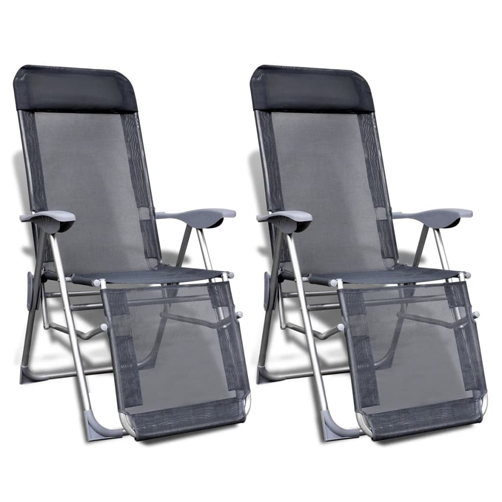 acheter ensemble de 2 chaises de camping aluminium. Black Bedroom Furniture Sets. Home Design Ideas
