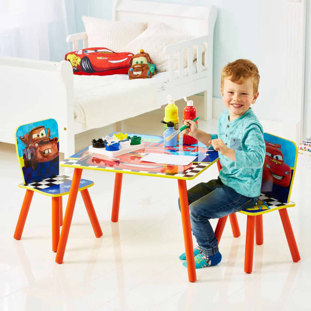 Disney 3 pz set tavolo e sedie cars worl320021 - Tavolo sedie bimbi ...