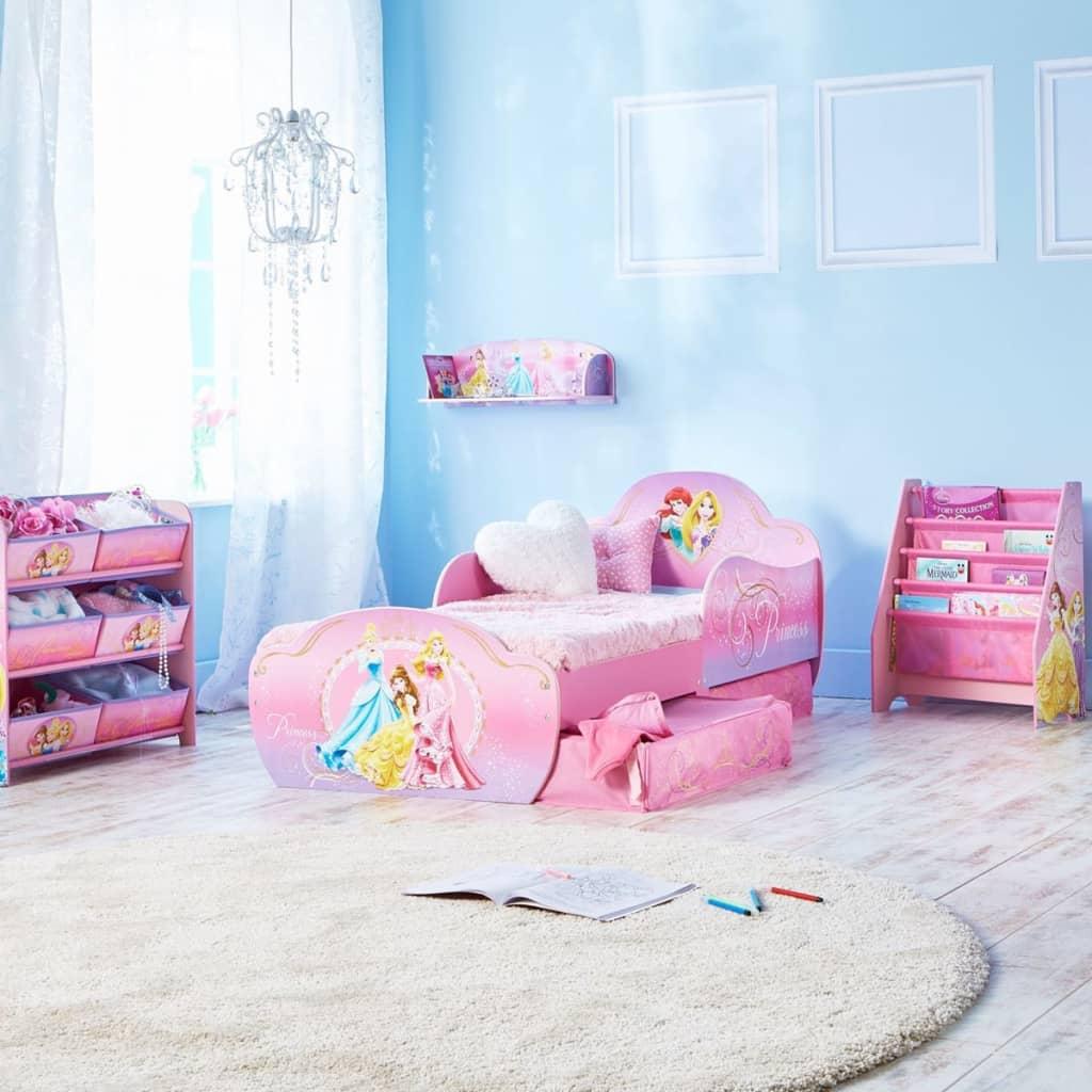acheter disney lit pour tout petits avec tiroirs princesse 142x59x77cm deluxe pas cher. Black Bedroom Furniture Sets. Home Design Ideas