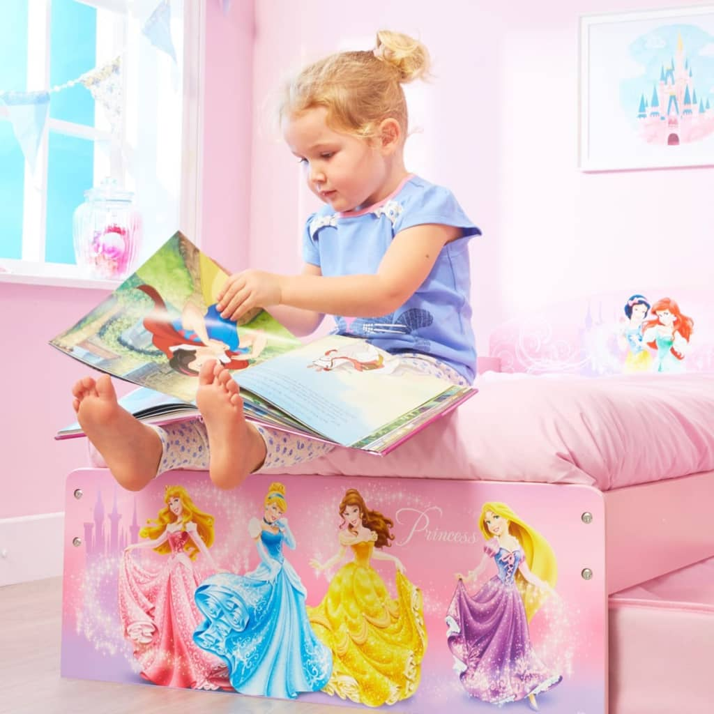 Disney toddler bed with drawers princess 142x59x77 cm pink worl660018 - Toddler beds with drawers ...