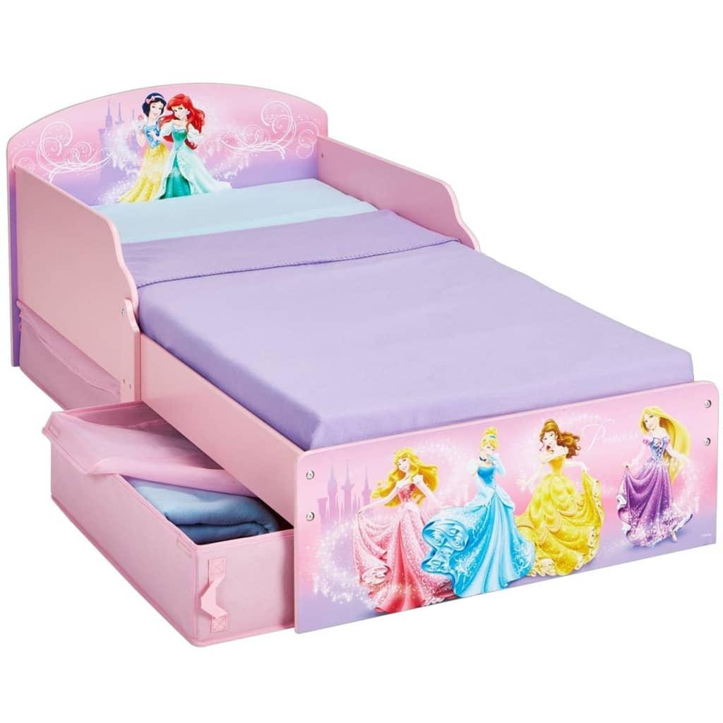 Disney Łóżko dziecięce z szufladami w Księżniczki, 142x59x77cm, różowe