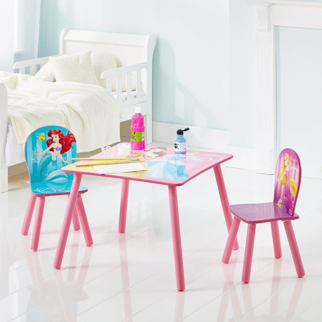 Disney 3 Pcs Table And Chair Set Princess 45x63x63 Cm Pink