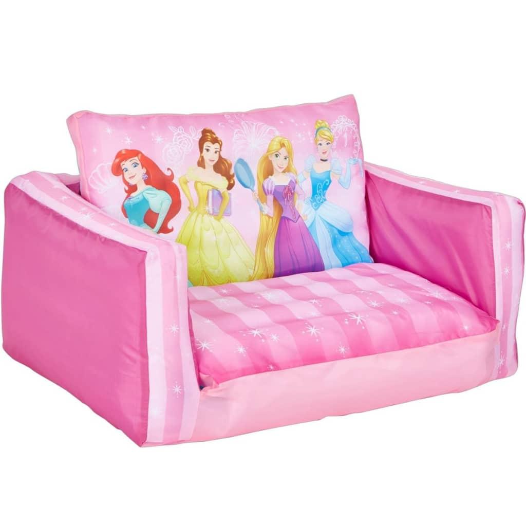 Disney Rozkładana kanapa z motywem księżniczek, 105x68x26 cm, różowa