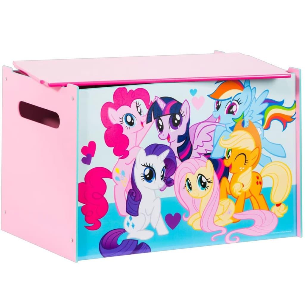 Afbeelding van My Little Pony Houten speelgoedkist roze 60x40x40 cm WORL920001