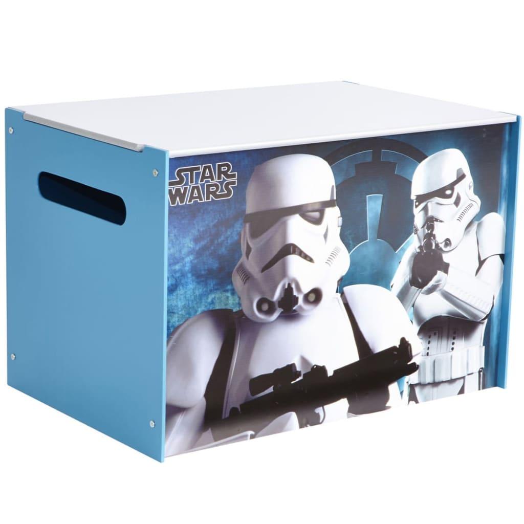 Afbeelding van Disney Houten speelgoedkist Star Wars 60x39x39 cm blauw WORL930008