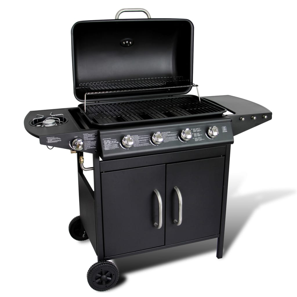 stainless steel gas barbecue bbq grill 4. Black Bedroom Furniture Sets. Home Design Ideas