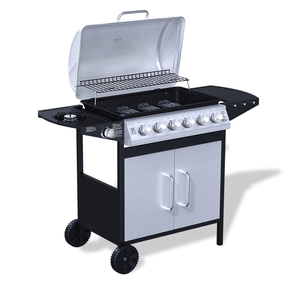Stainless steel gas barbecue bbq grill burners black