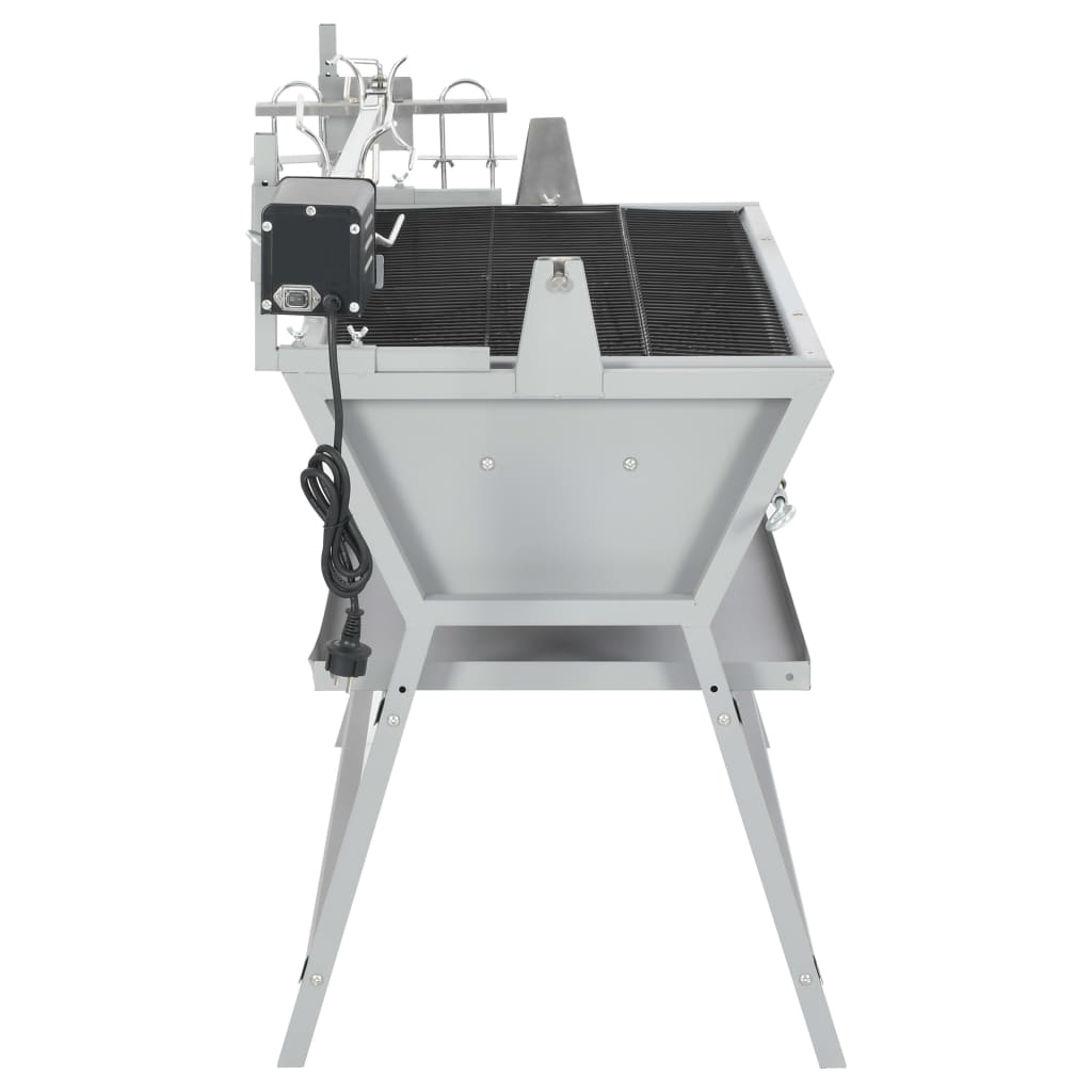 bbq grill mit drehspie eisen und edelstahl g nstig kaufen. Black Bedroom Furniture Sets. Home Design Ideas