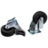 TRIXIE hjulsæt med fire hjul til transportkasser fra Skudo til bil sølv 39740