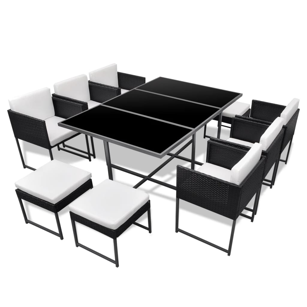 la boutique en ligne salon de jardin en poly rotin noir 10 personnes. Black Bedroom Furniture Sets. Home Design Ideas