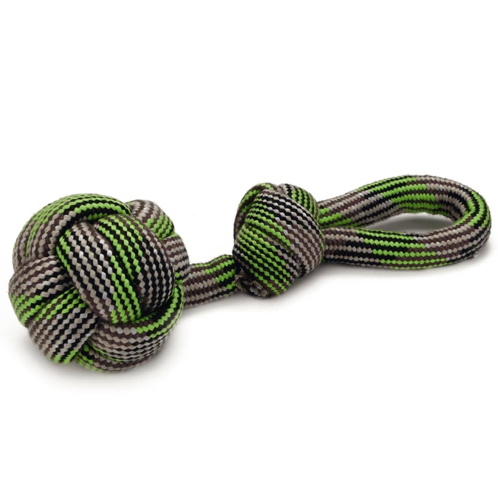 Afbeelding van Beeztees Speeltouw Ballino groen 55 cm stof 641240