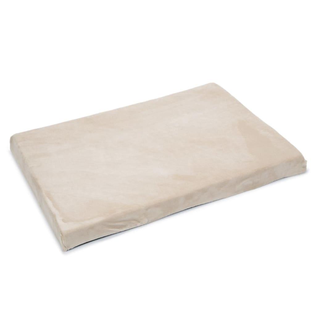 Afbeelding van Beeztees Hondenbed beige 100x70x8 cm traagschuim 707035