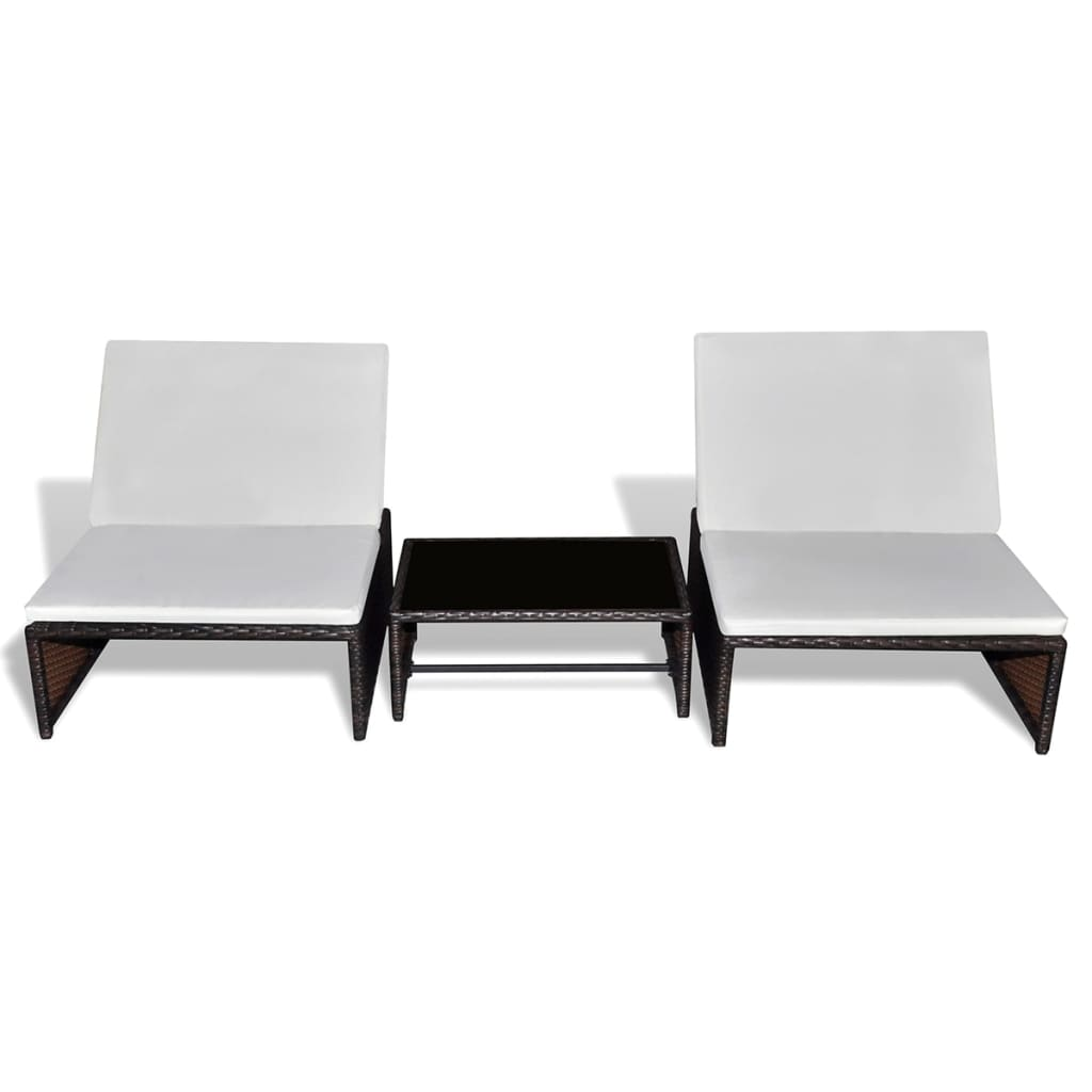 der poly rattan 2 sitzer lounge set verstellbarer r ckenlehne braun online shop. Black Bedroom Furniture Sets. Home Design Ideas