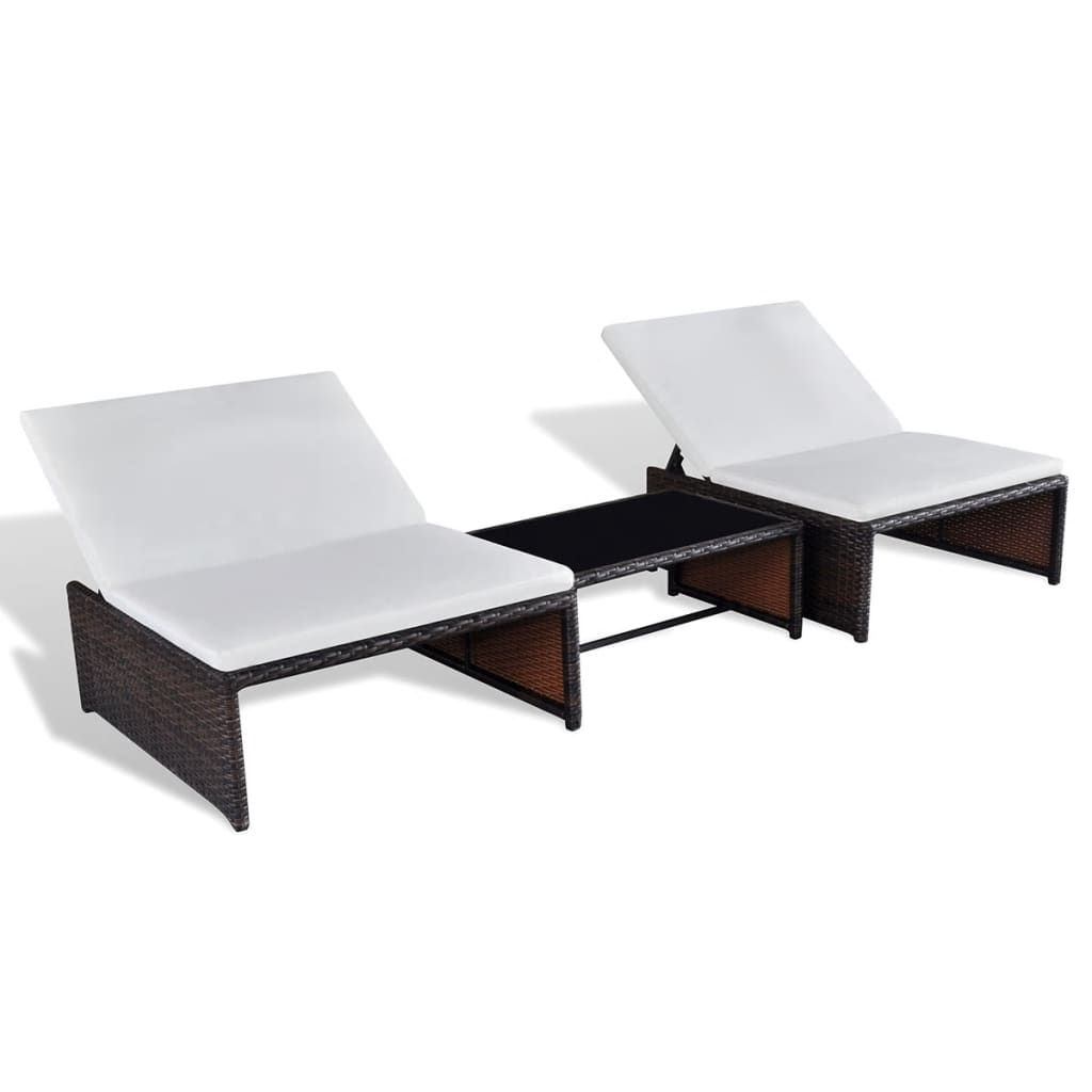 poly rattan 2 sitzer lounge set verstellbarer r ckenlehne braun g nstig kaufen. Black Bedroom Furniture Sets. Home Design Ideas